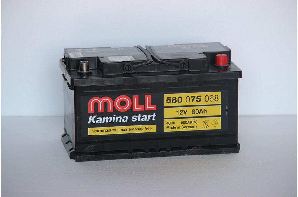 Аккумулятор Moll 80 a/h 680A