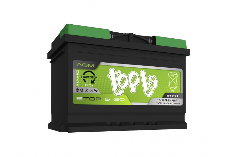 Аккумулятор Topla TOP AGM Stop / Go 70 A/h 760A