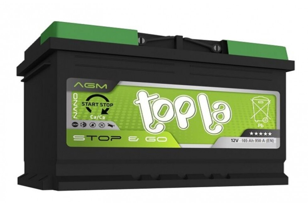 Аккумулятор Topla TOP AGM Stop & Go 105 A/h 950A R+