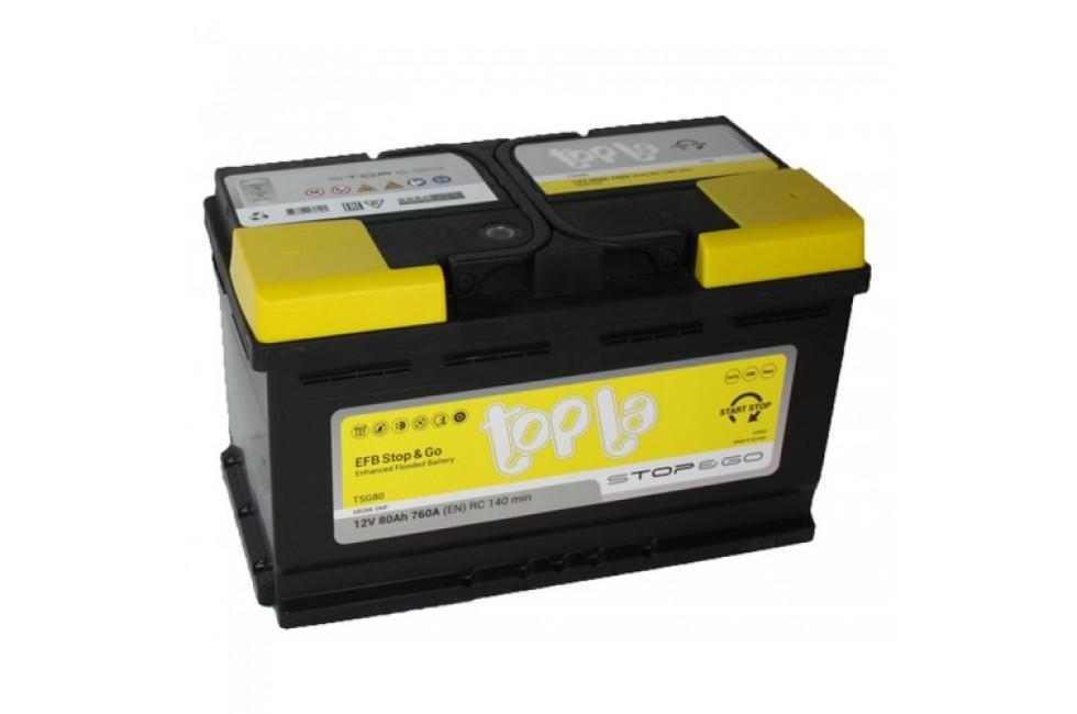 Аккумулятор Topla EFB Stop & Go 80 A/h 760A R+