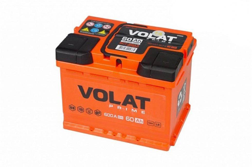 Аккумулятор VOLAT Prime 60 A/h 600A R+