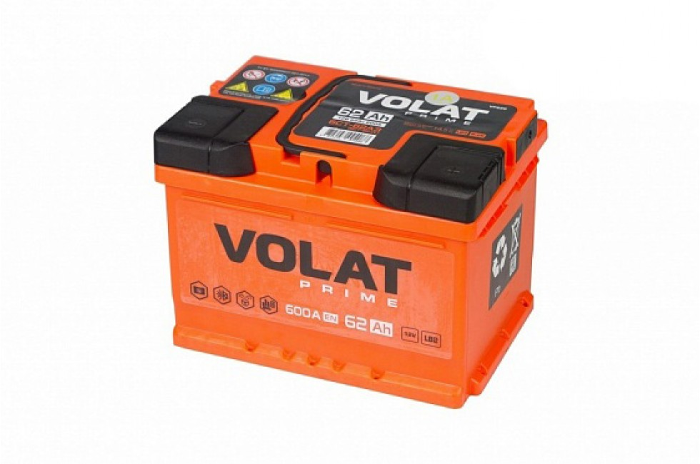 Аккумулятор VOLAT Prime 62 A/H 600A R+