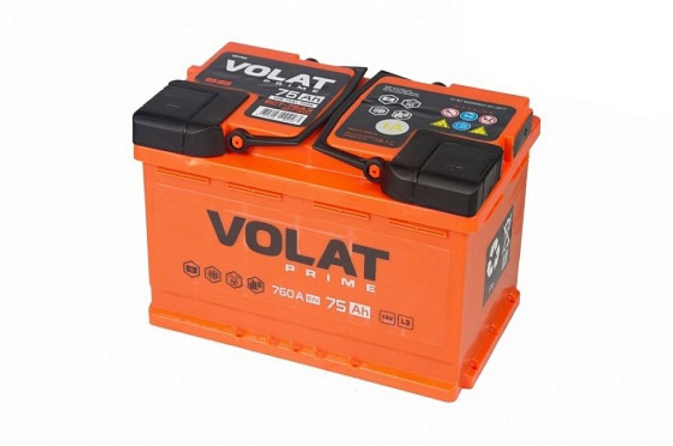 Аккумулятор VOLAT Prime 75 A/h 760A L+