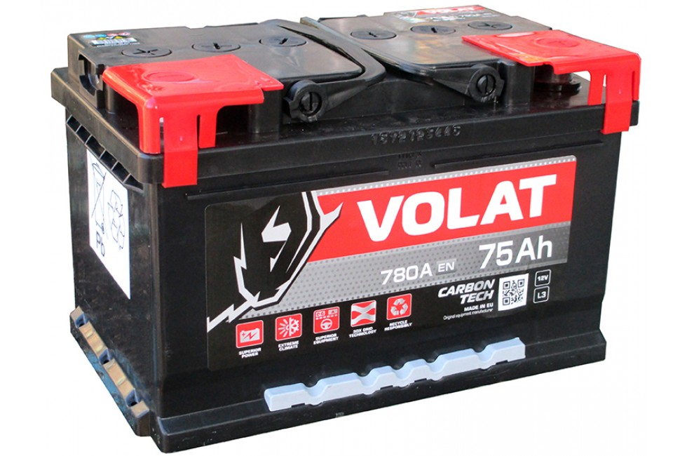 Аккумулятор VOLAT Ultra 75 А/ч 780А низкий