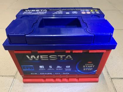 Аккумулятор Westa EFB 63 a/h 620A