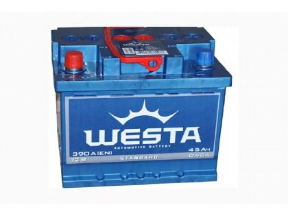 Аккумулятор Westa 45 a/h 390A e/n