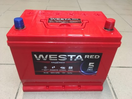 Аккумулятор Westa Asia RED 70 a/h 620A (EN)