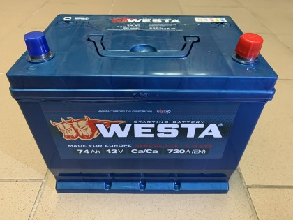 Аккумулятор Westa Asia 74 a/h 720A (EN)