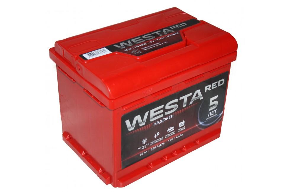 Аккумулятор Westa RED 56 a/h 550A