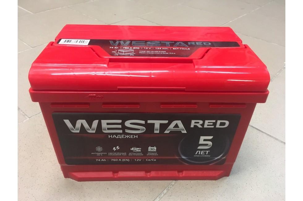Аккумулятор Westa RED 74 R+ 760A