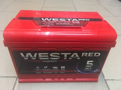 Аккумулятор Westa RED 70 R+ 720A