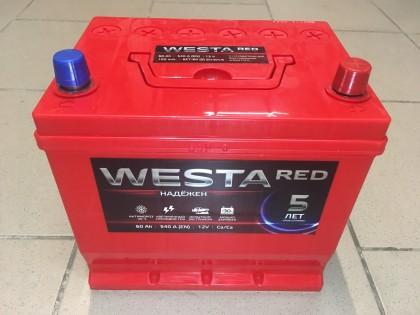 Аккумулятор Westa RED Asia 60 a/h 540 (EN) R+