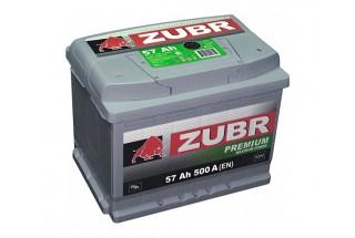 Аккумулятор Зубр Premium 57 А/ч  500A