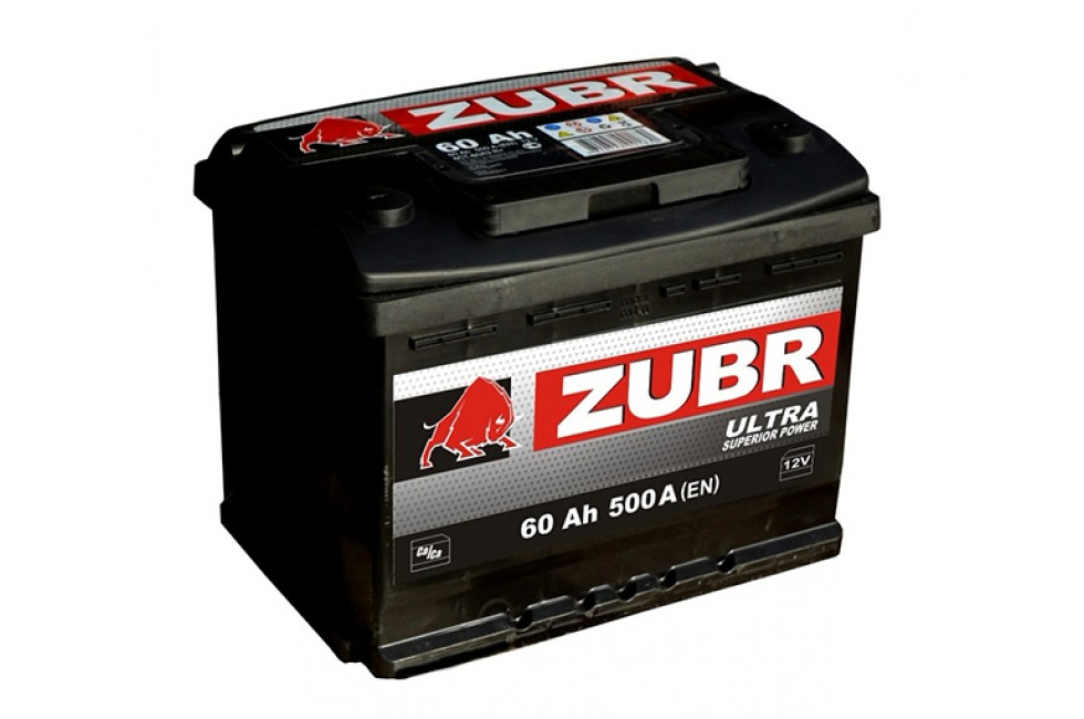 Аккумулятор Зубр ультра 60 a/h 600A (EN)