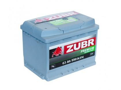 Аккумулятор Зубр Premium 63 А/ч  640A