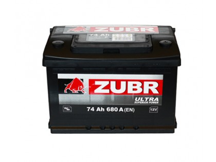 Аккумулятор Зубр Ultra  74 a/h 680A (EN)