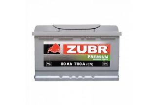 Аккумулятор Zubr Premium 80 A/h 780А R
