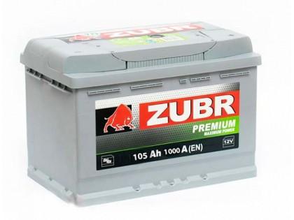 Аккумулятор Zubr Premium 105 A/h 1000А R+