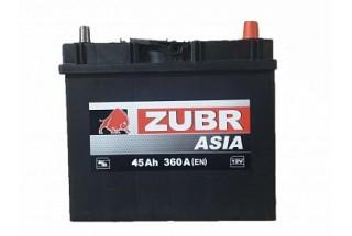 Аккумулятор Zubr Ultra ASIA 45 A/h 360А R+