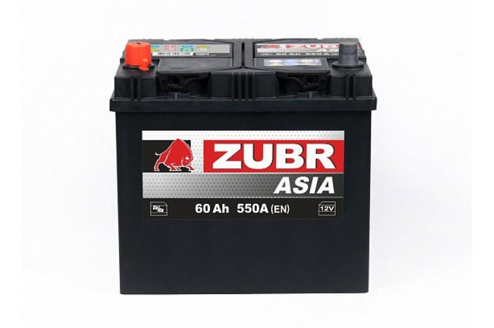 Аккумулятор Zubr Ultra ASIA 60 A/h 550А L+