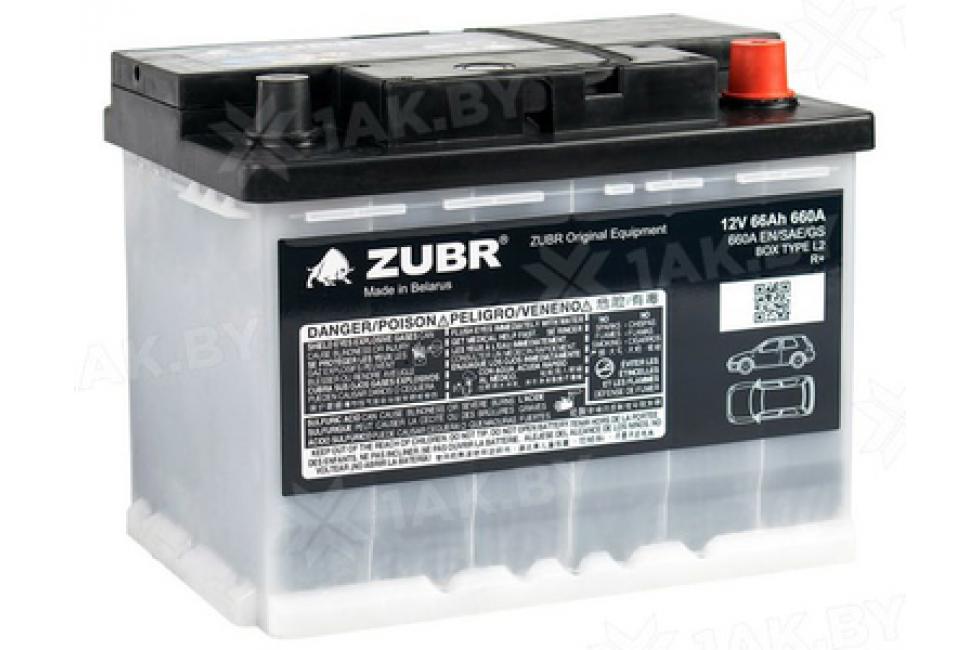 Аккумулятор Zubr Original 66 A/h 660А R+