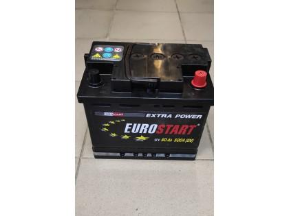 Аккумулятор Eurostart Extra Power 60 A/h 500А R+