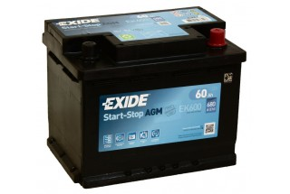 Аккумулятор Exide Start-Stop AGM EK600 (60 A/h) 680A R+