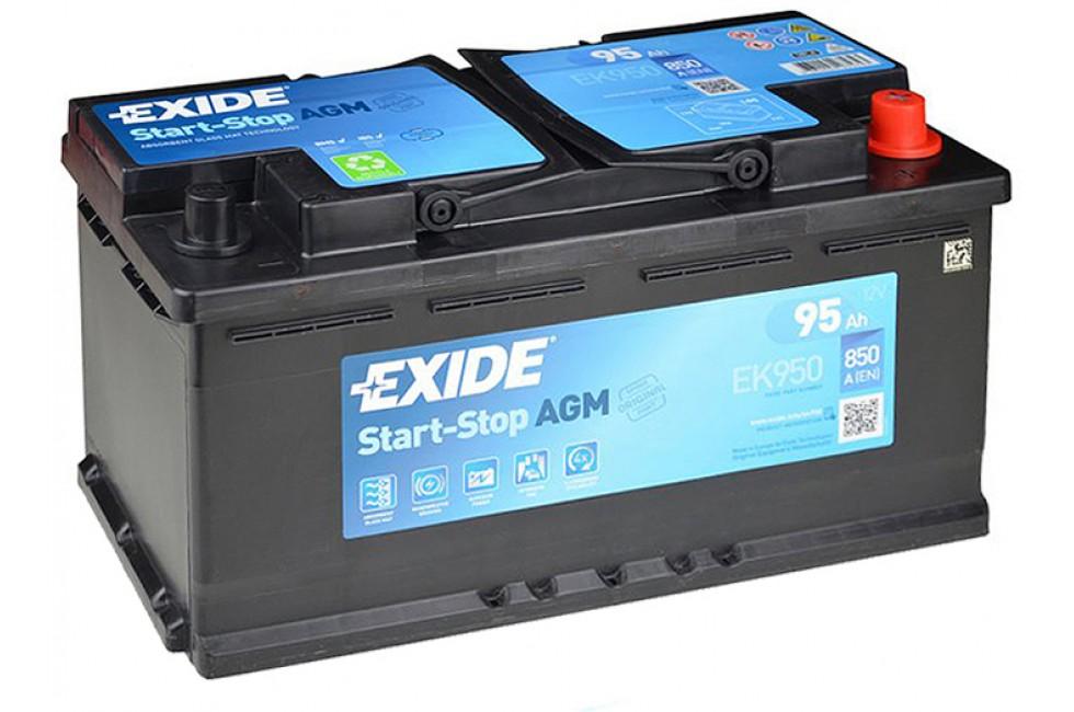 Аккумулятор Exide Start-Stop AGM EK950 (95 A/h) 850A R+