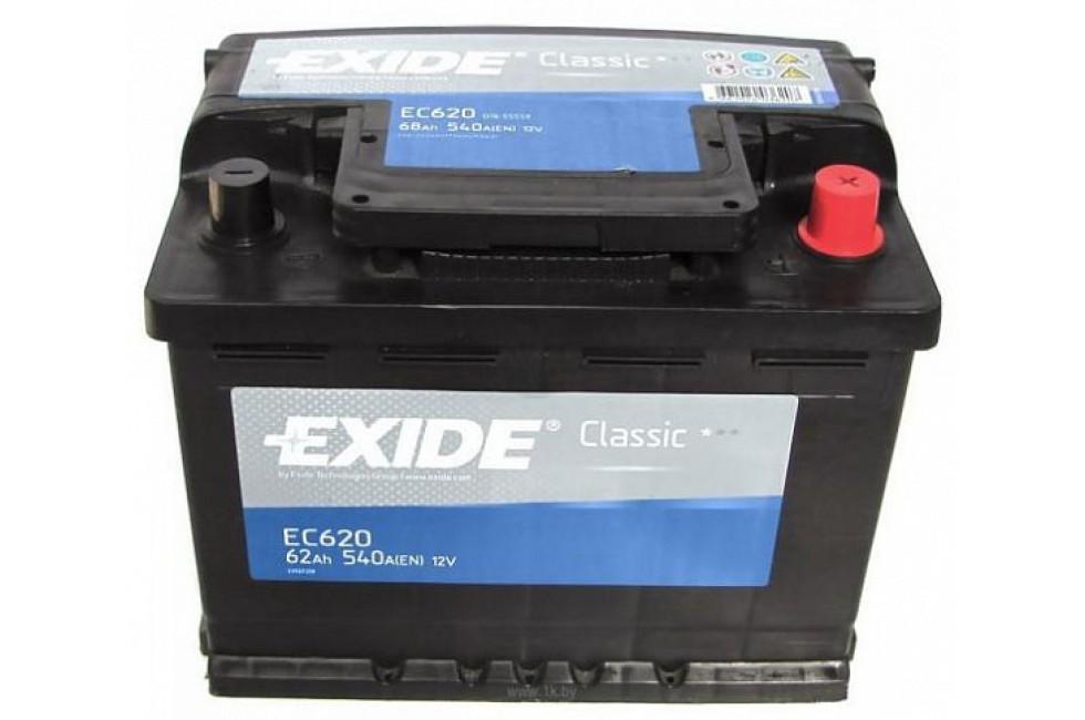Аккумулятор Exide Classic EC620 (62 A/h), 540A R+