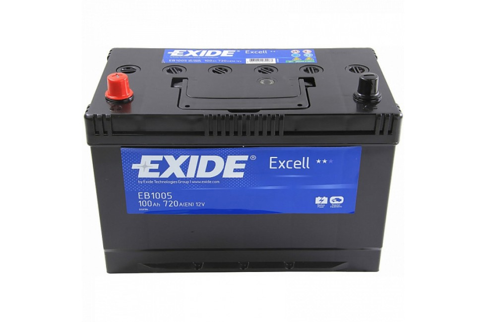 Аккумулятор Exide Excell EB1005 (100 A/h), 720A L+