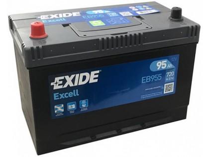 Аккумулятор Exide Excell EB955 JIS (95 A/h), 720A L+