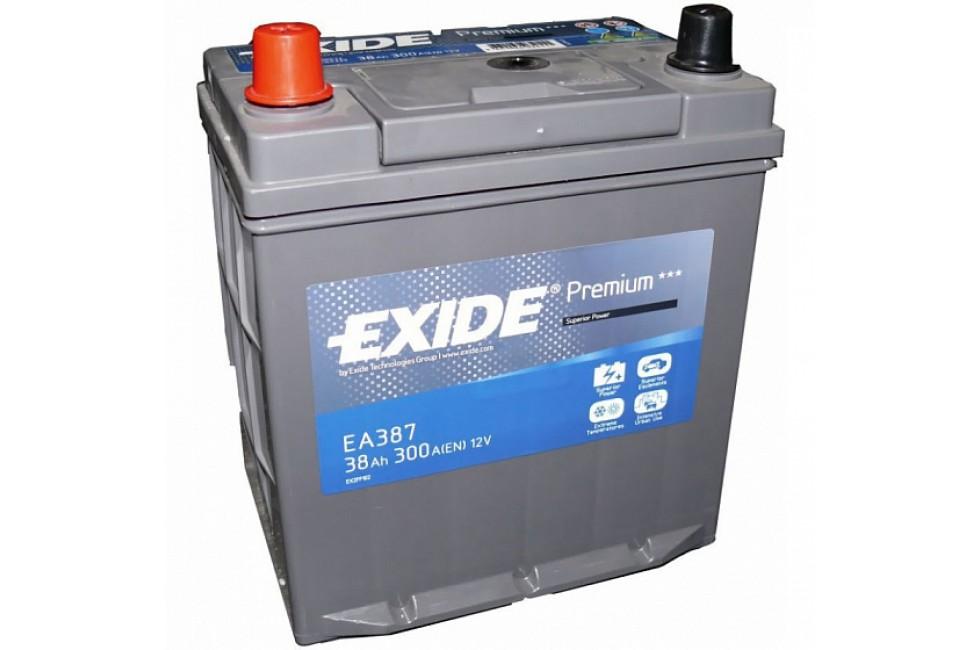 Аккумулятор Exide Premium EA387 (38 A/h), 300A L+