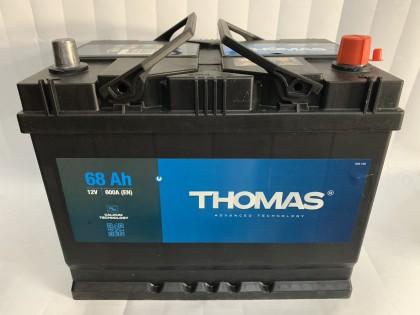Аккумулятор Thomas Asia 68 A/h 600A L+