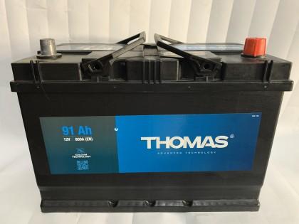 Аккумулятор Thomas Asia 91 A/h 800A L+