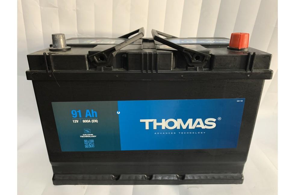 Аккумулятор Thomas Asia 91 A/h 800A R+