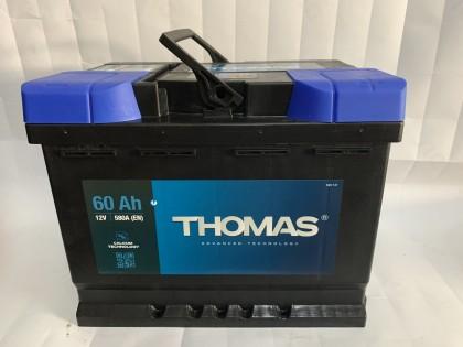 Аккумулятор Thomas 60 A/h 540A R+ низкий
