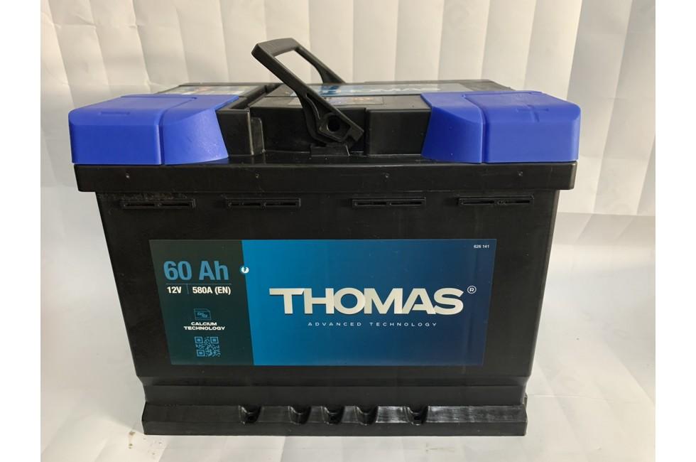 Аккумулятор Thomas 60 A/h 580A R+ низкий