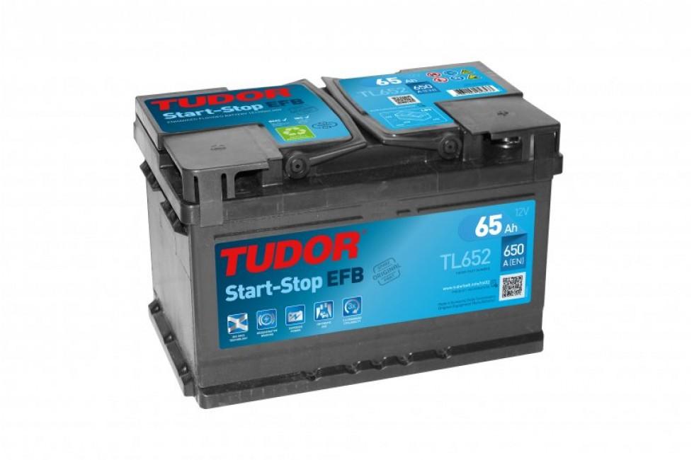 Аккумулятор TUDOR Start-Stop EFB TL652 65 A/h 650A R+