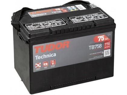 Аккумулятор Tudor Technica TB758 75 А/ч 770A L+