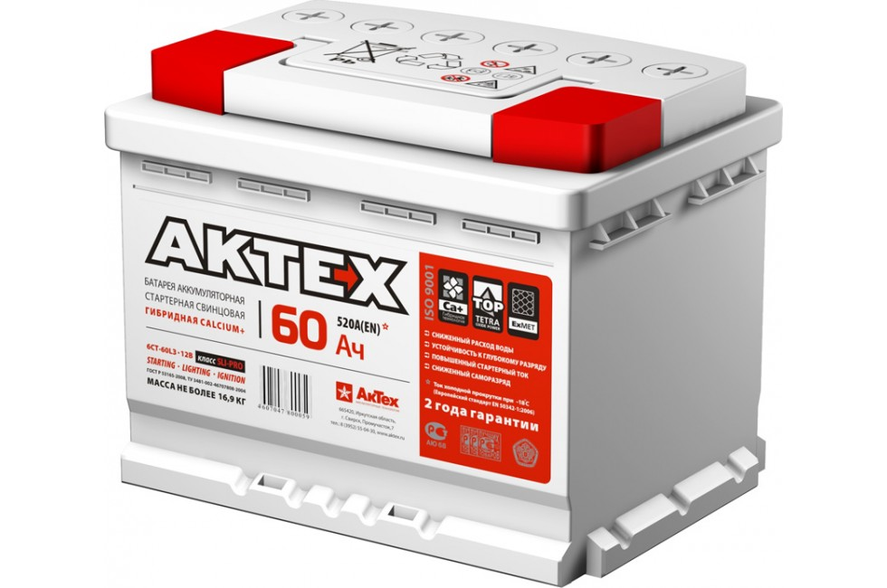 Аккумулятор АкТех Classic 6СТ-60 Евро