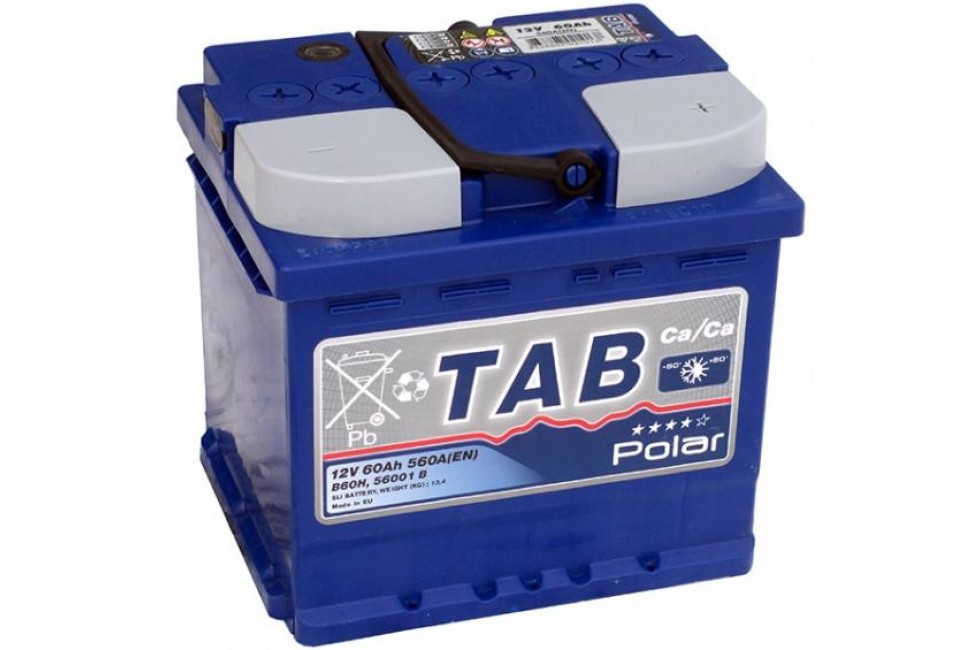 Аккумулятор TAB Polar Blue 60 A/h 560А R+ короткий
