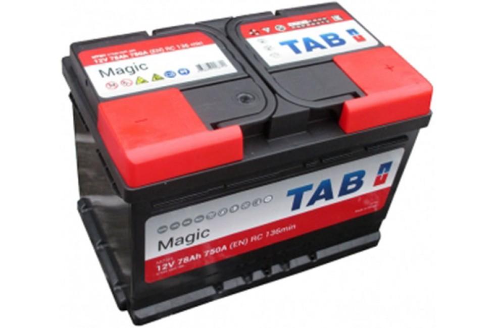 Аккумулятор Tab Magic 78 A/h 750A (EN) R+