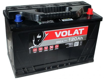 Аккумулятор VOLAT Ultra 120 A/h 900А R+