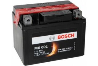 Аккумулятор Bosch M6 001 503 014 003 (3 A/H), 30A, YT4L-BS / YT4L-4