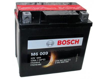 Аккумулятор Bosch M6 009 507 902 011 (5 A/H), 120A, YTZ7S-BS / YTZ7S-4