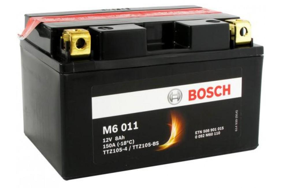 Аккумулятор Bosch M6 011 508 901 015 (8 A/H), 150A, YTZ10S-BS / YTZ10S-4