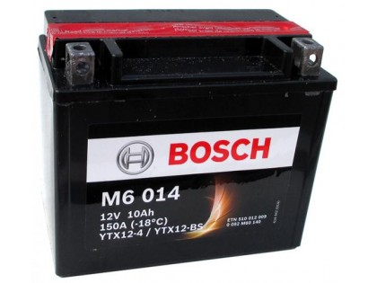 Аккумулятор Bosch M6 014 510 012 009 (10 A/H), 150A, YTX12-BS / YTX12-4