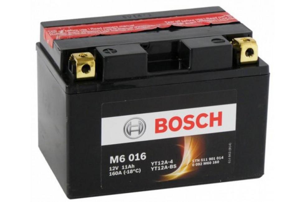 Аккумулятор Bosch M6 016 511 901 014 (11 A/H), 160A, YT12А-BS