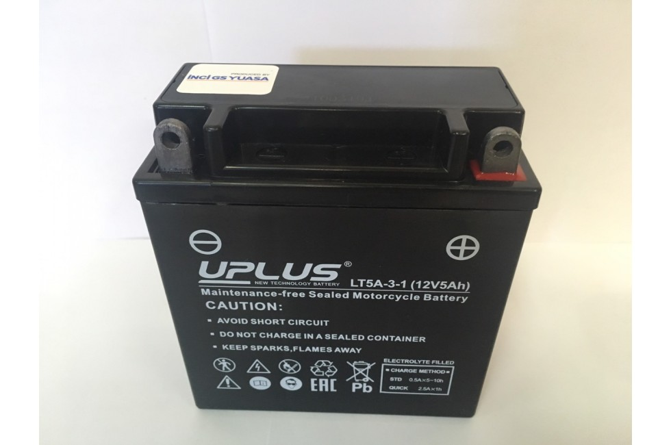 Аккумулятор UPLUS Super Star LT5A-3-1, (YB5L-B)