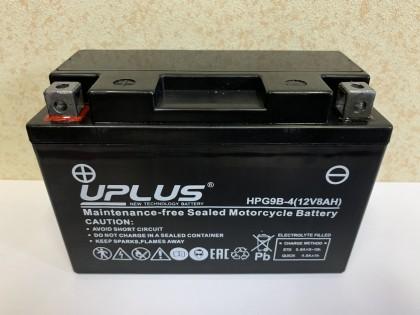 Аккумулятор UPLUS HPG9B-4 8 A/h L+